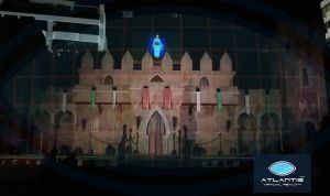 Hologram big size in a castle.
